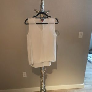 White Vince Camuto Flowy Tank